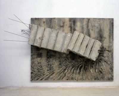 Anselm Kiefer, Von den Verlorenen gerührt, die der Glaube nicht trug, erwachen die Trommeln im Fluss, 2004