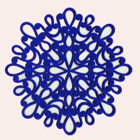 Anita Manshanden blauw ornament