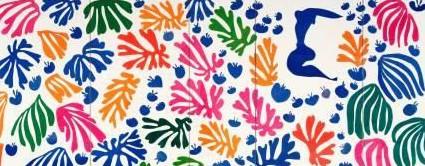 Henri Matisse, La perruche et la sirène, 1952-53,  detail. Gouache, collage op papier op linnen, 337 x 768,5 cm. Collectie Stedelijk Museum Amsterdam. Verworven met steun van de Vereniging Rembrandt en het Prins Bernhard Cultuurfonds, 1967 ©Succession H. Matisse, c/o Pictoright Amsterdam 2014