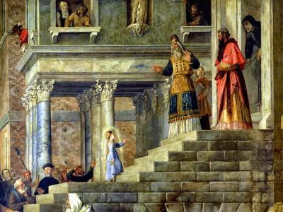 Titiaan, De Presentatie van de Maagd Maria, 1534-1538 Gallerie dell'Accademia, Venetië