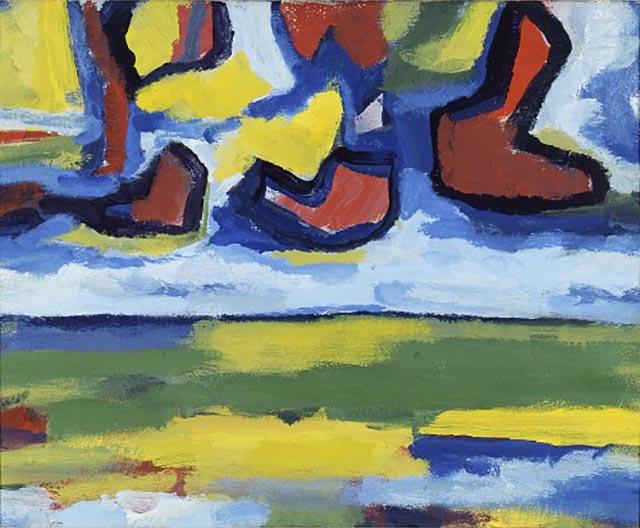 gerrit-benner-landschap-met-rode-wolken-1969