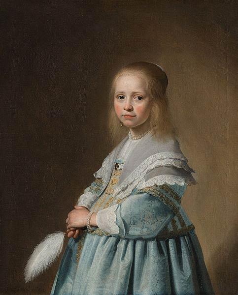 J.C. Versrponck, meisje in het blauw, 1641, Rijksmuseum