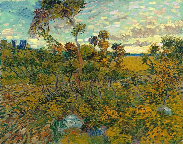 Vincent van Gogh. Zonsondergang bij Montmajour, 1888. Particuliere collectie